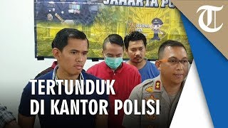 Dalam Waktu 17 Jam Pria Todongkan Senjata Ditangkap, Tertunduk saat di Kantor Polisi