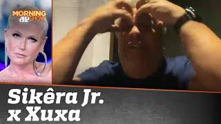 """Sikêra Jr. entra ao vivo no Morning para rebater Xuxa e artistas: """"Minha intenção era denunciar"""