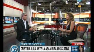 Visión Siete Asunción Presidencial Cristina Comienza Su Segundo Mandato