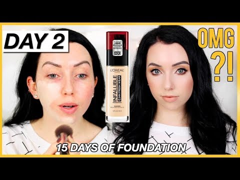 L'OREAL INFALLIBLE FRESH WEAR FOUNDATION! {First Impression Review & Demo!} Dry Skin