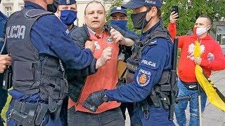 Strajk Przedsiębiorców 23.5.2020r. Blokada policji i zatrzymania w Warszawie!!!