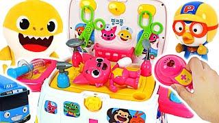 Pinkfong,Pororo is hurt! Go! Pinkfong ambulance hospital play #PinkyPopTOY