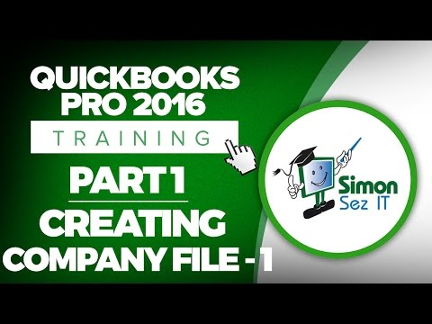 QuickBooks Pro 2016 Training Part 1: How to Create Your Company File in QuickBooks