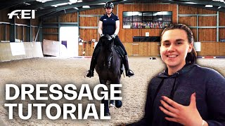 How to ride a Dressage Test - with Olivia Towers & FEI judge Isobel Wessels | Guest Vlog