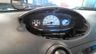 Dash bulb replacement instrument cluster 2000 Toyota Echo removal replacement