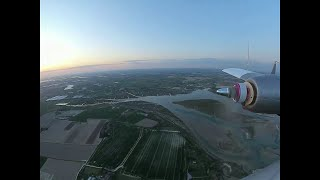Finwing Albabird 3rd flight with iNav and DJI - Sunset flight.