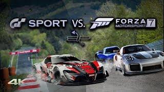 Gran Turismo Sport vs Forza Motorsport 7 Graphics and Sound Comparison 4k 60ᶠᵖˢ BUP