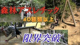 石川県の森林アスレチック体力の限界でアスレチックの数が多かった!