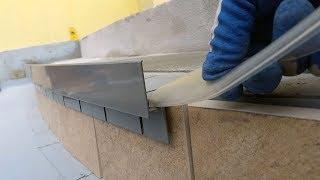 Obróbka tarasu łukowego ze schodami przy użyciu profilu W35