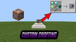 how to make custom crafting recipes in mcpe