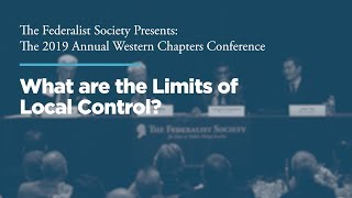 Click to play: Panel Two: What are the Limits of Local Control?