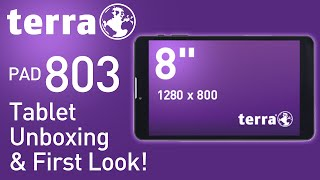 TERRA PAD 803 Tablet Unboxing & First Look! (Android)
