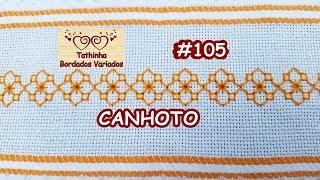 BORDADO COM PONTO MÉDICI (BLACKWORK) / CANHOTOS -Tathinha Bordados #105