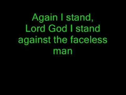 Lyrics to Creed - Faceless Man
