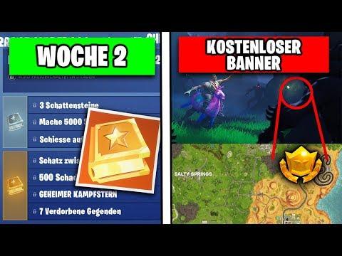 download fortnite woche 2 geheimer banner und kampfstern season 6 battlepass deutsch german - fortnite 2 woche