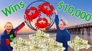 WINNER gets $10,000! Crab Catching Challenge!