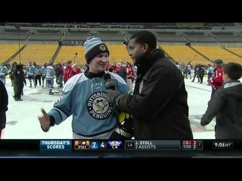 2010 Penguins-Capitals Alumni Game Mario Lemieux Interview