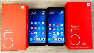 Xiaomi Redmi 5 vs Xiaomi Redmi 5 Plus - ЧТО ВЫБРАТЬ? СРАВНЕНИЕ!