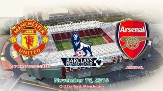 Manchester United Vs Arsenal 11 All Goals & Highlights 19/11/2016  Premier League 2016/2017