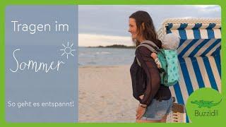 Babytragen im Sommer - alle Tipps   Buzzidil Trageberatung