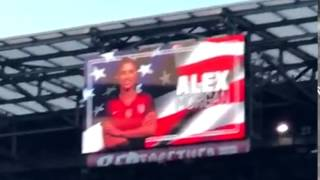 USWNT - Alex Morgan Receives Loudest Crowd Applause LIVE Lineup Announcement (SBC v. ENG) - 3-4-17