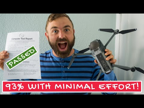 How I Passed the FAA Part 107 Drone Test with 93% Score ...