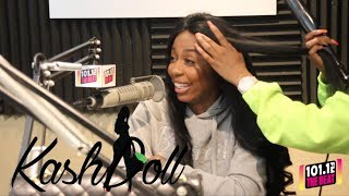 Download Kash Doll interview while getting her hair done