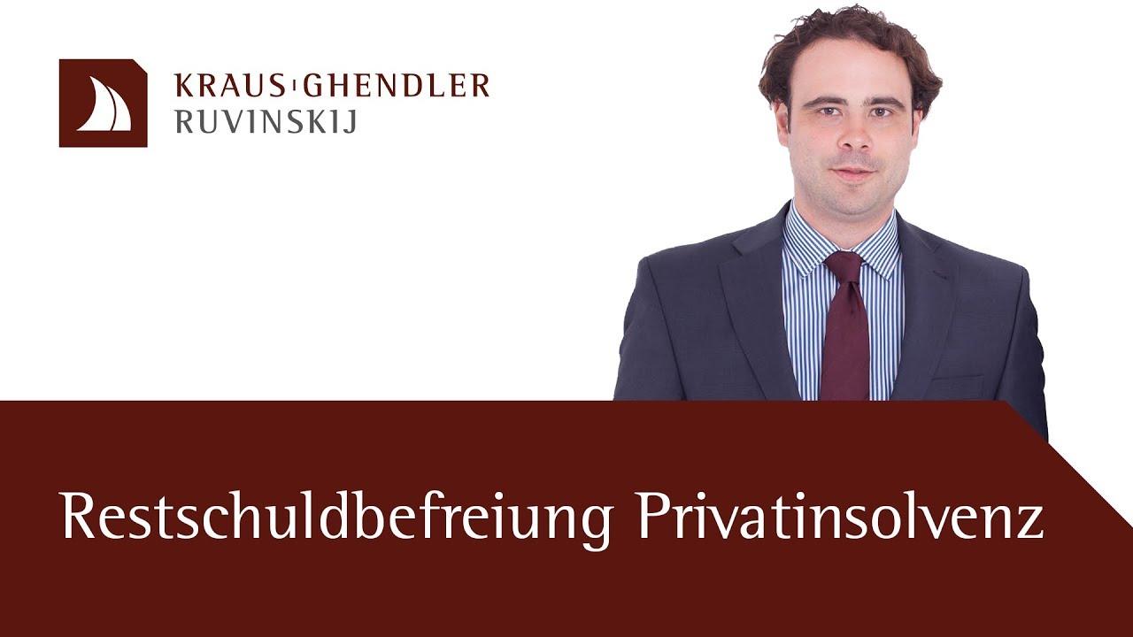 Restschuldbefreiung bei einer Privatinsolvenz