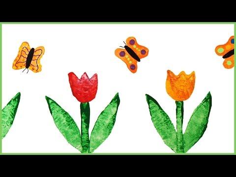 DIY Frise murale avec des tulipes