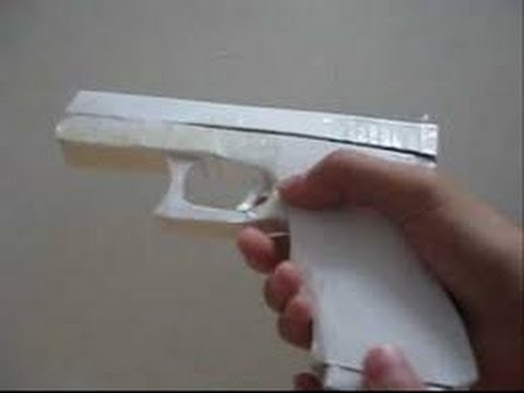 How To Make A Paper Hand Gun That Shoots|FAST EASY SIMPLE|HD