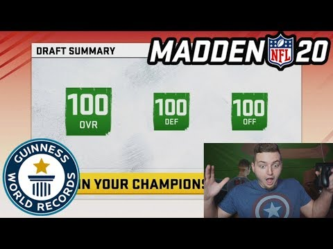 New HIGHEST Rated Draft Record in Madden 20