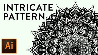 FANCY Intricate Lace Pattern Illustrator CC Tutorial (MUST SEE!)