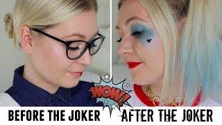 Dr Harleen Quinzel VS Harley Quinn Drugstore Halloween Makeup | Meg Says AD