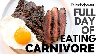 CARNIVORE DIET RECIPES | Full Day of Eating Carnivore Diet | EAT KETO CARNIVORE WITH ME