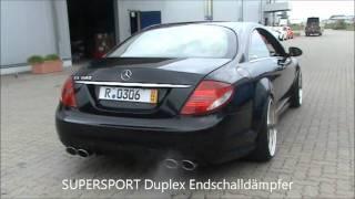 Mercedes-Benz CL 600 V12 SUPERSPORT mit Duplex Endschalldämpfer