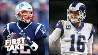 Los Angeles Rams vs. New England Patriots Super Bowl LIII predictions | First Take