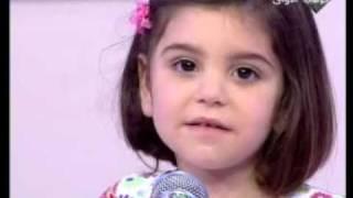 الطفله نادين تغني مع اليسا ستار صغار