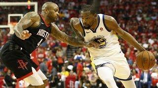 Warriors Win Game 1! Durant 37 Pts, Harden 41! 2018 NBA Playoffs