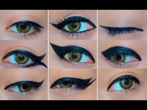 9 Different Eyeliner Looks | EASY Eyeliner Tutorial For Beginners | How To Do Eyeliner