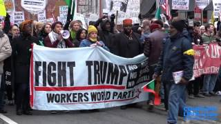 Protesters Upset at Trump Inauguration Compilation