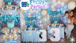 99 Cent Store Frozen Party In Quarantine | Princess Jonalyn