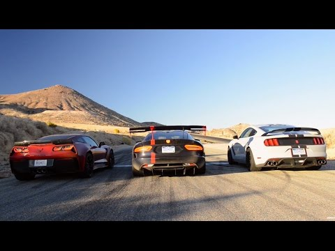 Dodge Viper ACR v Ford Mustang GT350R v Corvette Stingray Z06 | Top Gear Magazine