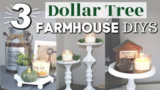 DIY Farmhouse Candle Holders | DIY Farmhouse Dollar Tree Home Decor Ideas | Krafts By Katelyn