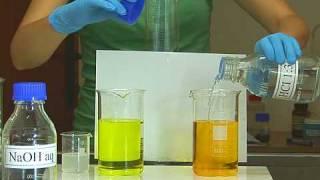 Whimsical precipitate of barium chromate