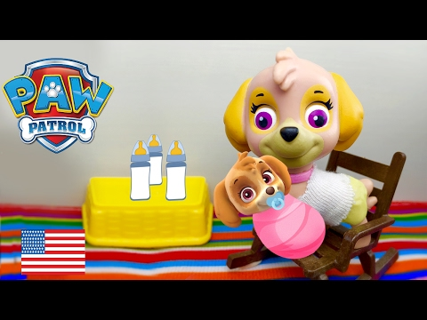 Paw Patrol Baby Morning Routine Chase and Skye New Parents Full Episode