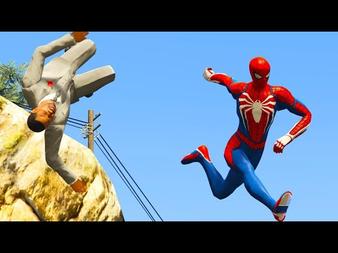 GTA 5 Water Ragdolls Spiderman Jump Fails #9 || Funny Moments ( Euphoria physics )