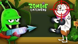 ОХОТА НА ЗОМБИ! Целимся в ГОЛОВУ Мультяшная игра для детей НОВЫЙ ЗОМБИ КАЧОК Zombie Catchers