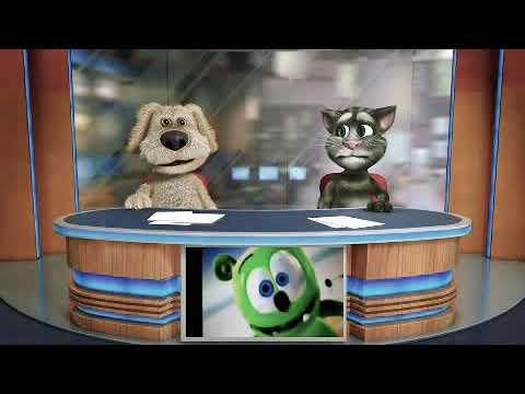 Talking Tom & Ben News The Gummy Bear song long English - Version