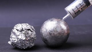 AWESOME EXPERIMENTS AND TRICKS WITH POLISHED ALUMINIUM FOIL BALL
