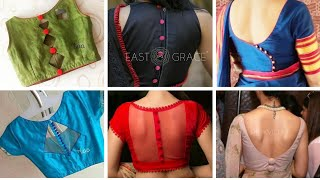 Amazing Plain Blouse Back Designs With Buttons // New Saree Blouse Back Designs